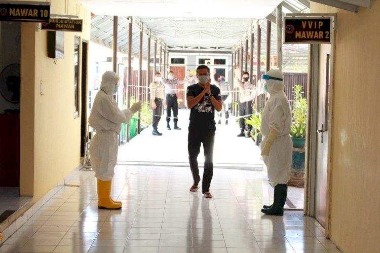 Satu pasien covid- 19 berhasil sembuh setelah di rawat di Rumah Sakit Bhayangkara Kupang