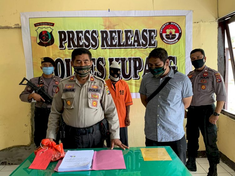 Kapolsek Takari,  Rilis  Para Pelaku Tindak Pidana Pencurian Hewan Ternak di Wilayah Kecamatan Takari