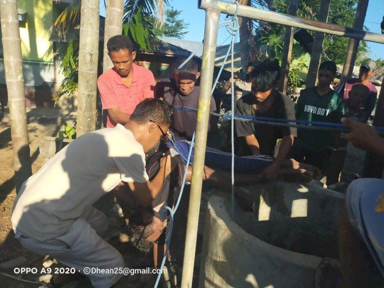 Polsek Kupang Timur Evakuasi  Mayat Dalam Sumur