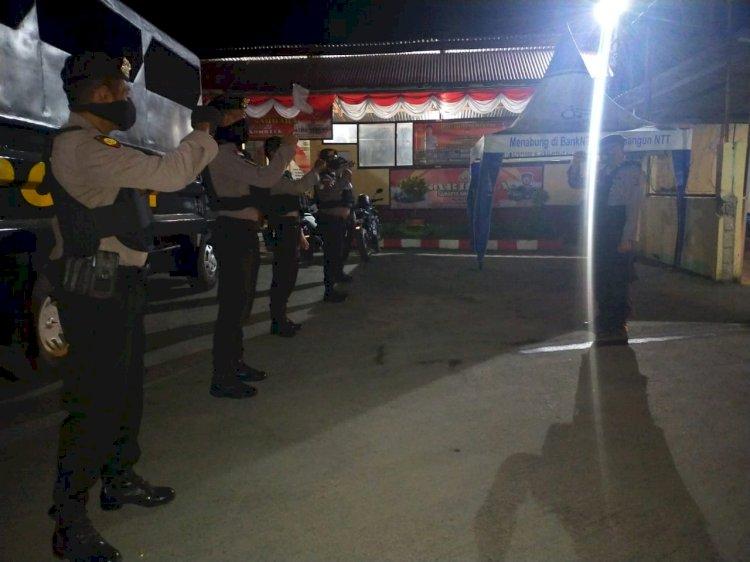 Patroli Samapta Polres Kupang Sosialisasikan Adaptasi Kebiasaan Baru