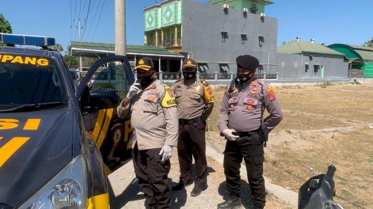 Polres Kupang  Gelar  Operasi Pendisiplinan Masyarakat Untuk Menggunakan Masker
