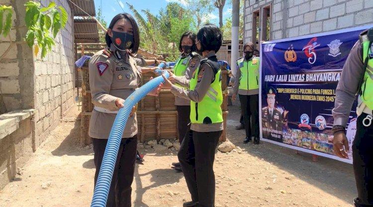 Satlantas Polres Kupang bantu 45.000 liter air bersih untuk warga