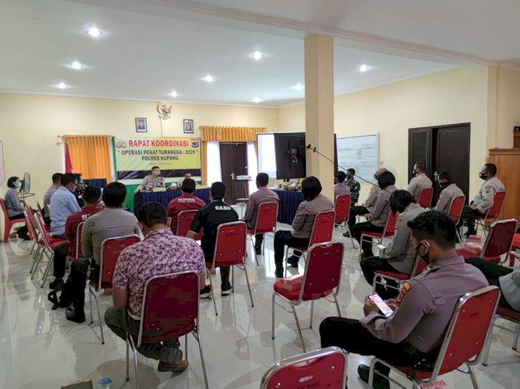 Polres Kupang Gelar Rapat Koordinasi Operasi Pekat Turangga 2020