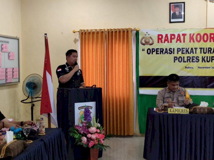 Kapolres Kupang Pimpin Rapat Operasi Pekat Turangga 2020