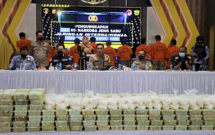 Polda Aceh Ungkap Kasus Narkotika Jaringan Internasional Seberat 353 Kg