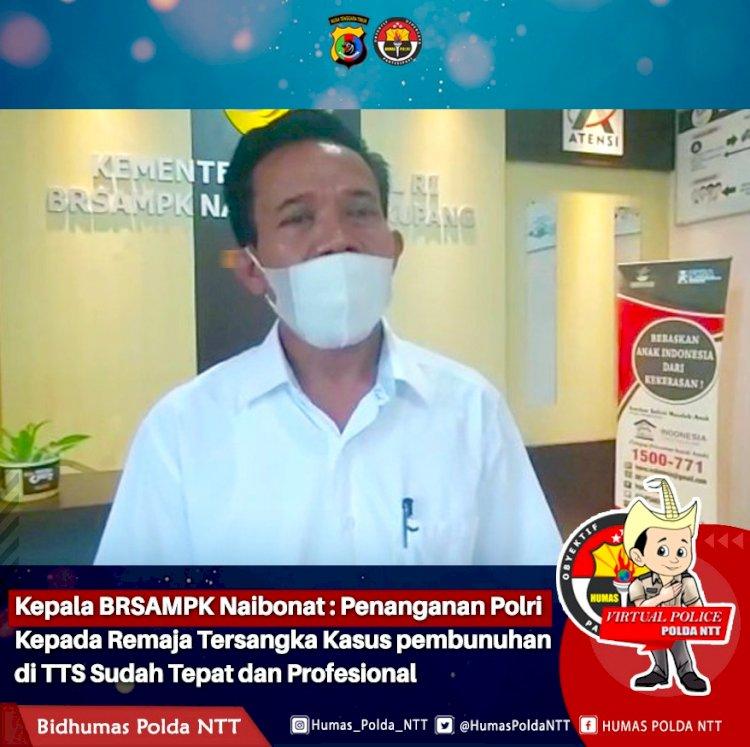 Kepala BRSAMPK Naibonat : Penanganan Polri Kepada Remaja Tersangka Kasus pembunuhan di TTS Sudah Tepa