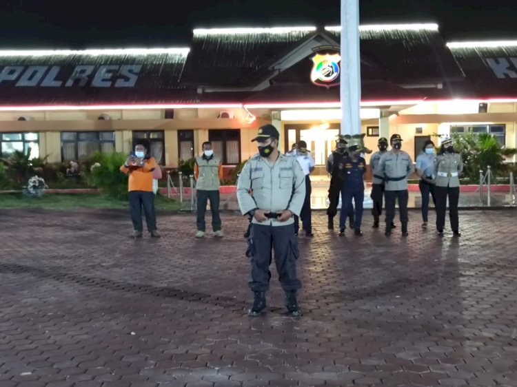 Cegah Penyebaran Covid-19, Polres Kupang Gelar Patroli Gabungan