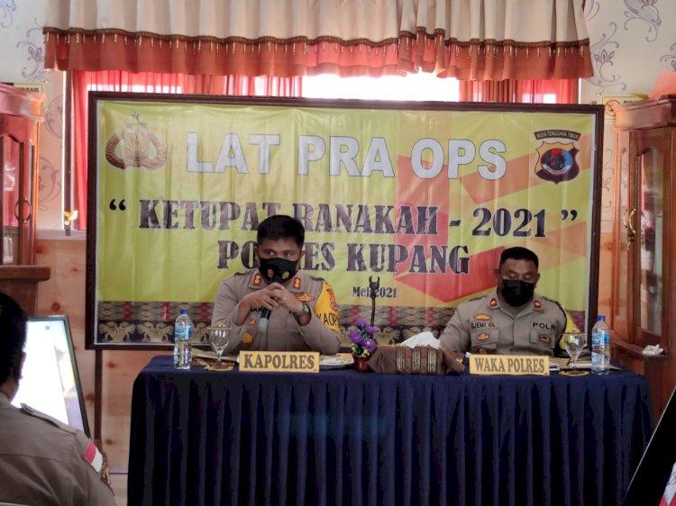Kapolres Kupang Gelar Lat Pra Ops Ketupat Ranakah 2021