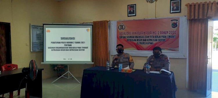Polres Kupang Sosialisasikan Peraturan Polri no 2 Tahun 2021