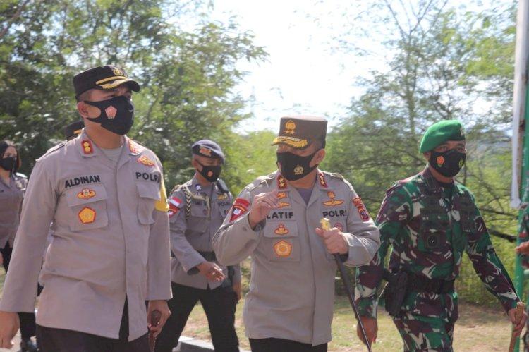 Kapolres Kupang Dampingi Kapolda NTT Silaturahmi Ke Brigif 21 Komodo