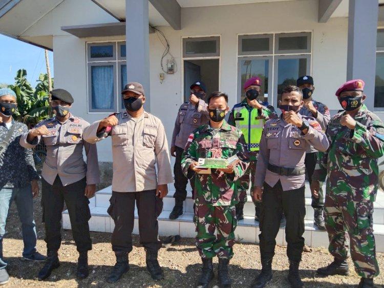 Hut TNI Ke 76 Polsek Amfoang Timur Seruduk Pos Pamtas Oepoli