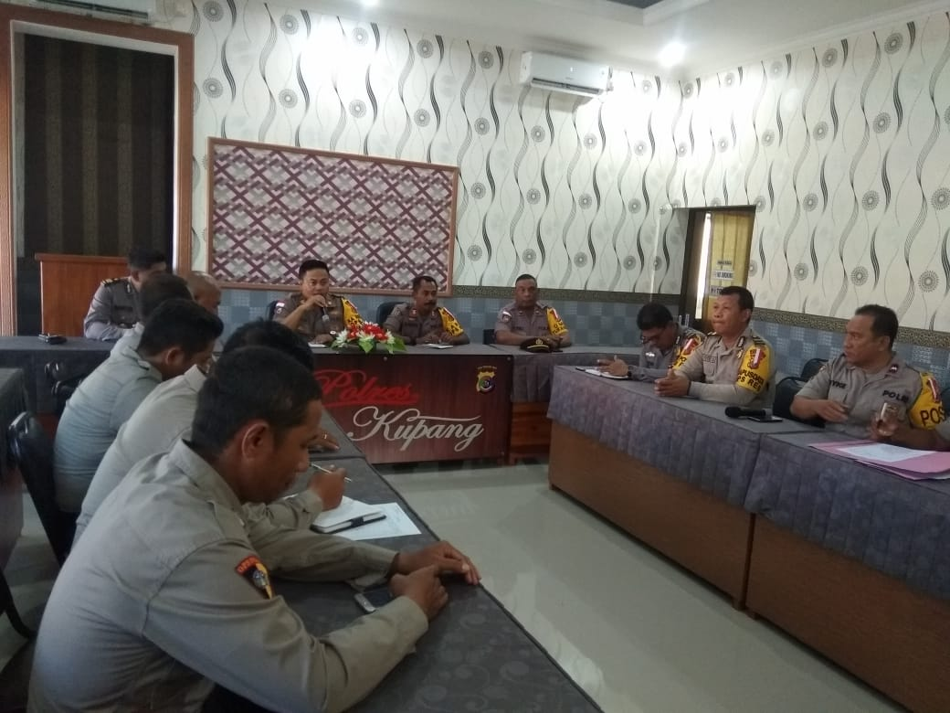 Kabag Ops Polres Kupang Anev Pelakasanaan Ops Bina Kusuma Turangga 2019