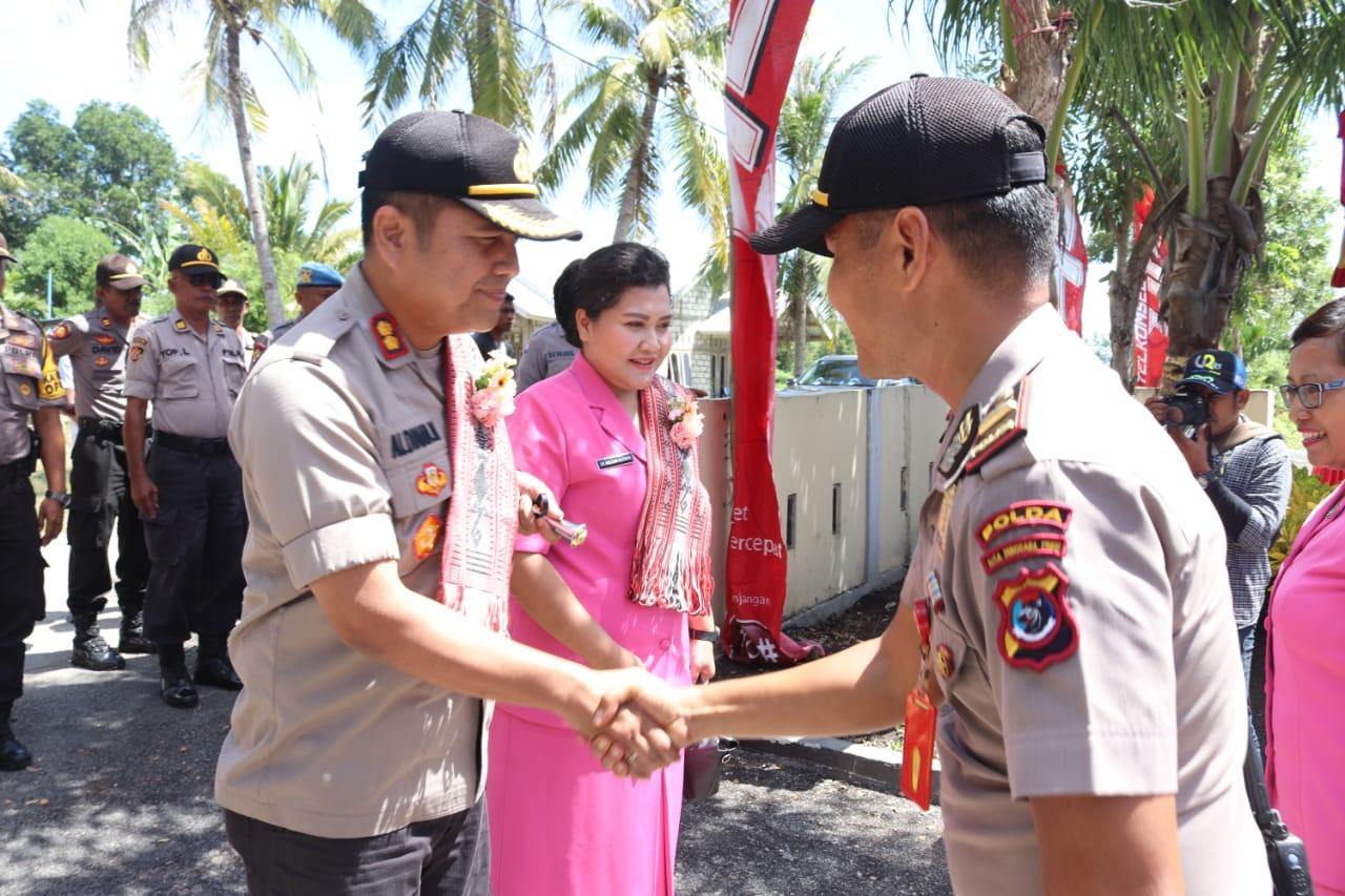Kapolsek Kupang Timur terima rombongan Kapolres dan Ketua Bhayangkari cabang Kupang