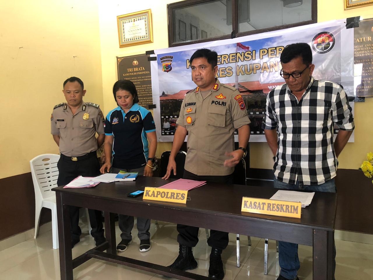 PPA Satreskrim Polres Kupang amankan pelaku aniaya,Ibunya