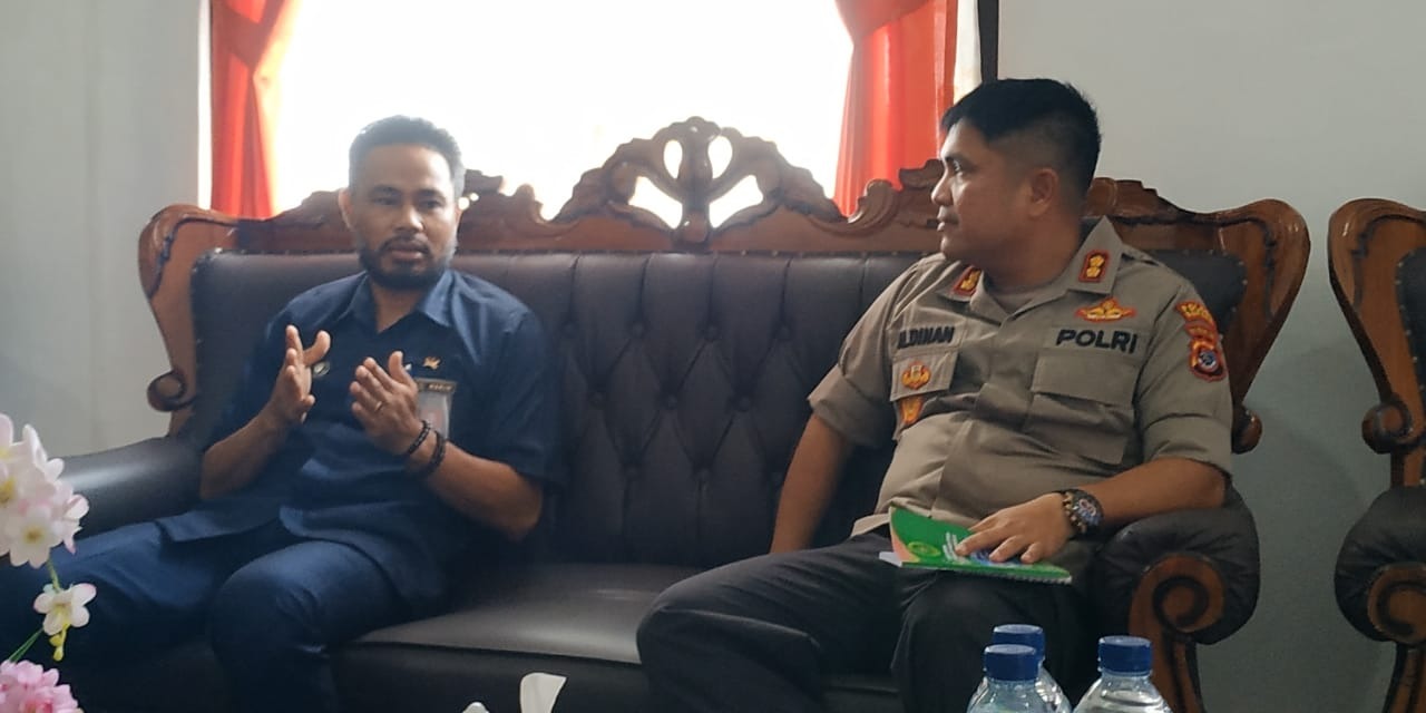 Kapolres Kupang, kunjungi Ketua Pengadilan Negeri Oelamasi